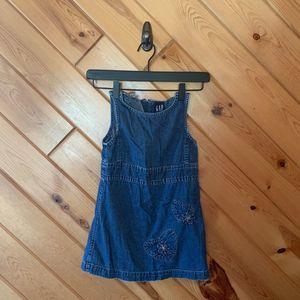 Vintage Gap Denim Dress 4  Heart Flower